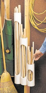 PVC pipe as dowel holder